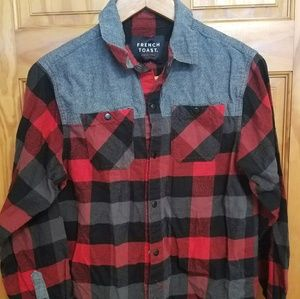 Kid's French Toast lumberjack button down shirt